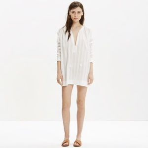 Madewell White Tahoe Cover-Up Tunic Dress Medium